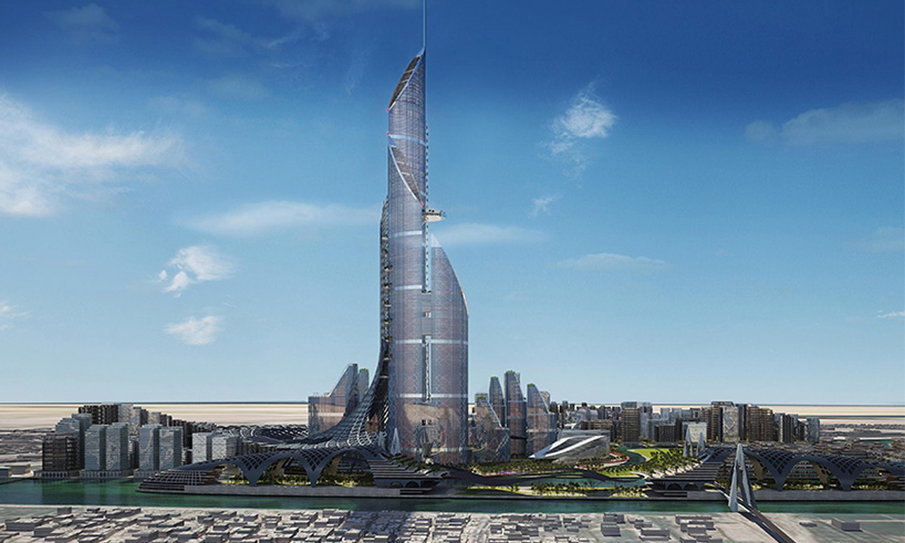 There's a proposal to build the world's tallest building in Basra, Iraq. The 1,152-metre-tall Bride of the Gulf would possibly be visible from Dubai. The building is designed by British-Iraqi architecture firm AMBS. (via Guardian)