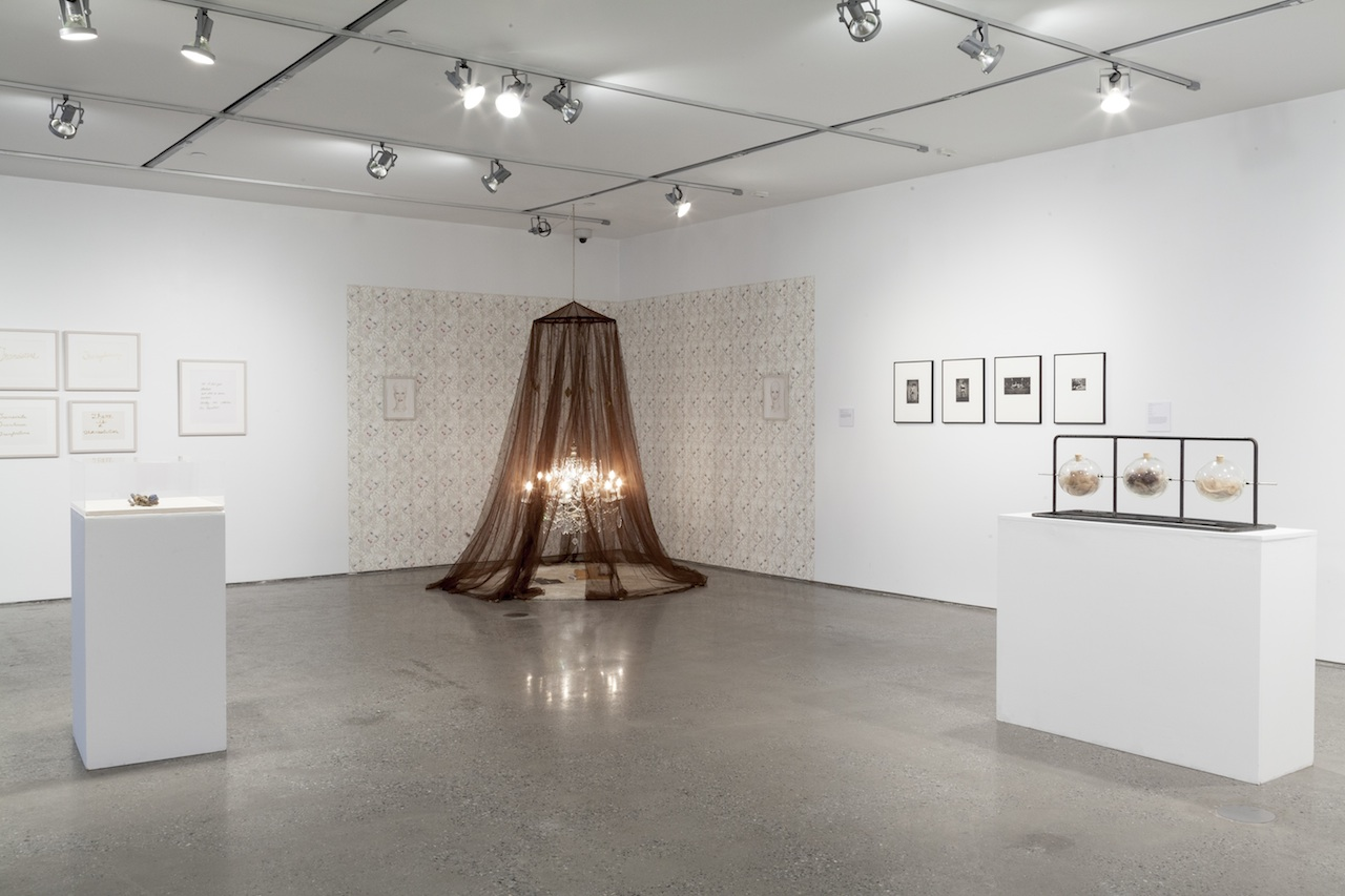 """Installation view, 'Bring Your Own Body: Transgender Between Archives and Aesthetics,' with Justin Vivian Bond's """"My Model Myself"""" (2015) at center (click to enlarge)"""