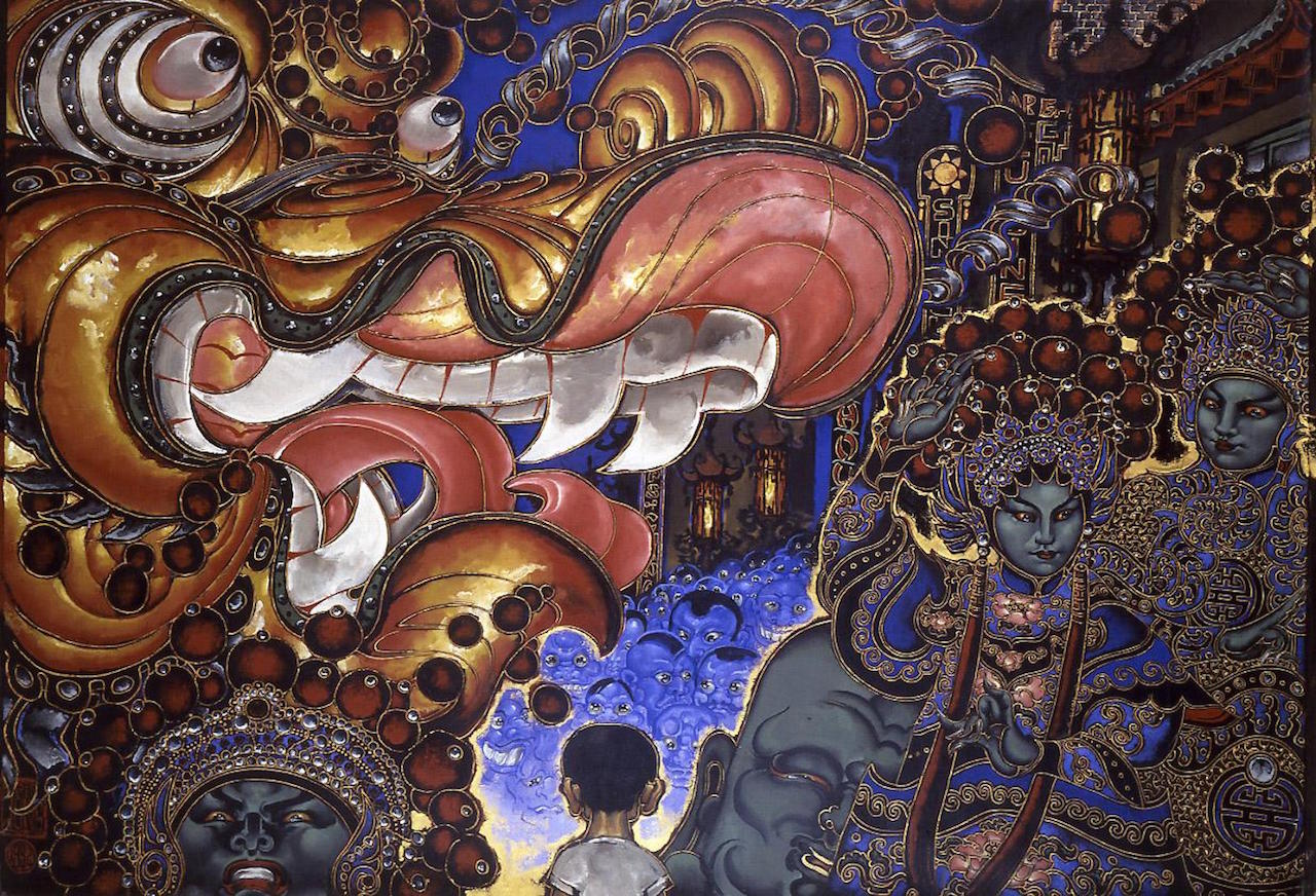 "Martin Wong, ""Chinese New Years Parade"" (1992) (courtesy Visual AIDS)"