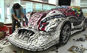 """Post image for Putting the """"Mobile"""" in Automobile: A Car Made from Discarded Cell Phones"""