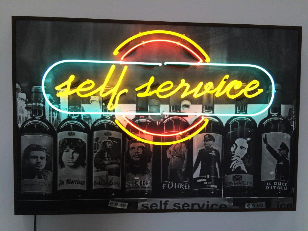 "Ernesto Javier Fernández, ""Self service"" (2009), mixed media"