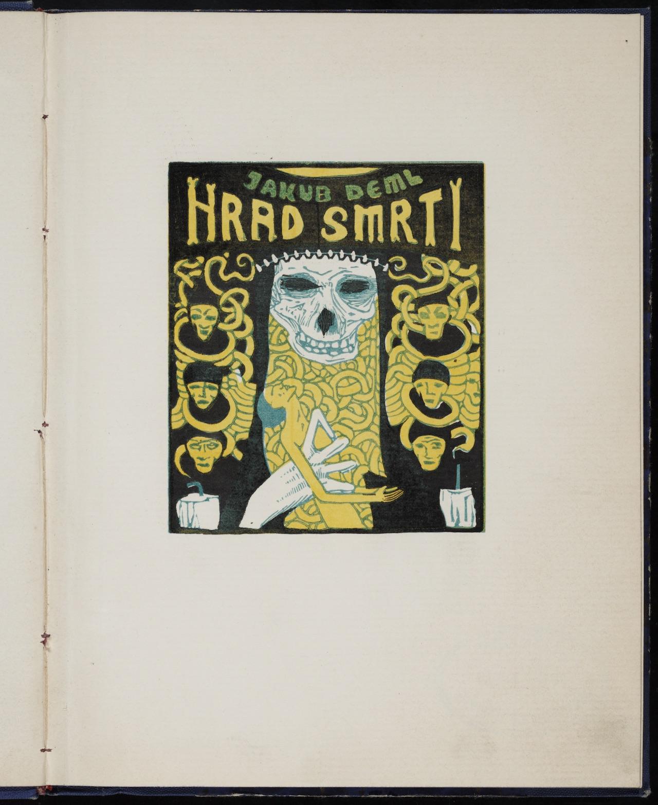 """Josef Váchal, illustration for """"Hrad smrti"""" (1912) by Jakub Deml"""