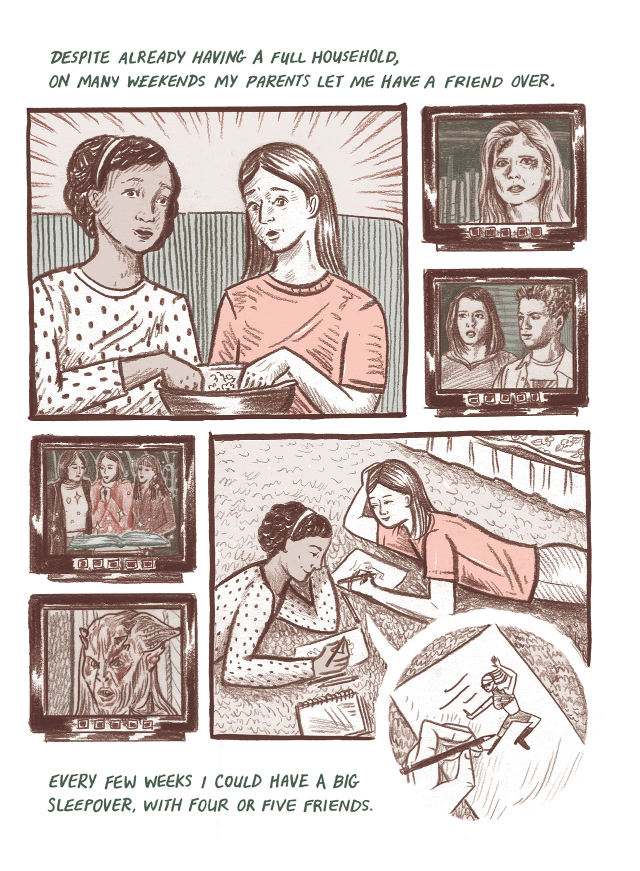 A page from Meags Fitzgerald's 'Long Red Hair' (all Fitzgerald images courtesy Conundrum Press)