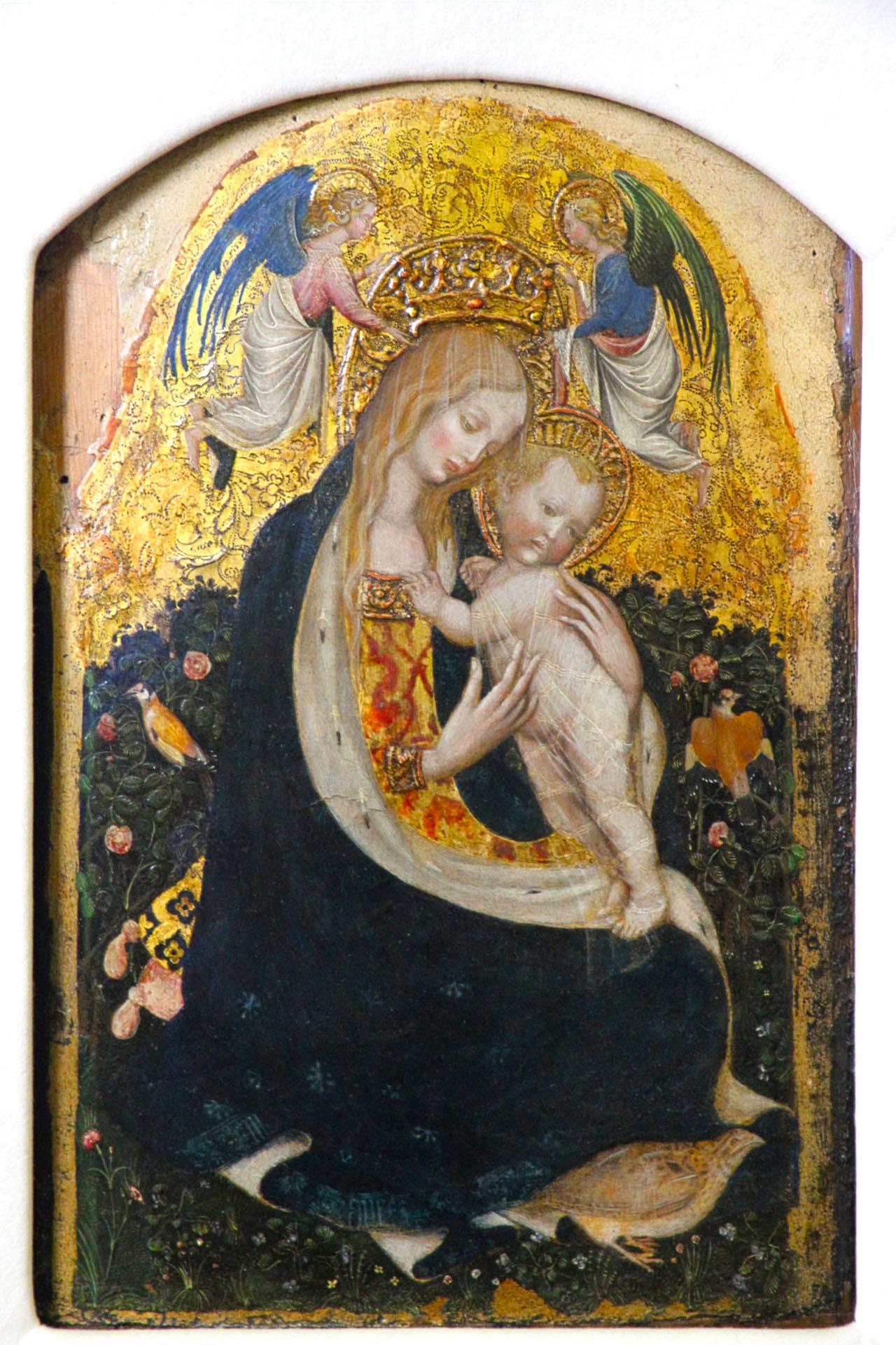 "Pisanello, ""Madonna of the Quail"" (ca. 1420) (via Wikimedia Commons)"