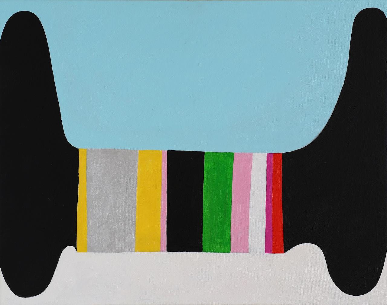"""Andrew Masullo, """"6091"""" (2014), oil on canvas, 22 x 28 in (all Masullo images courtesy Tibor de Nagy Gallery, NY)"""