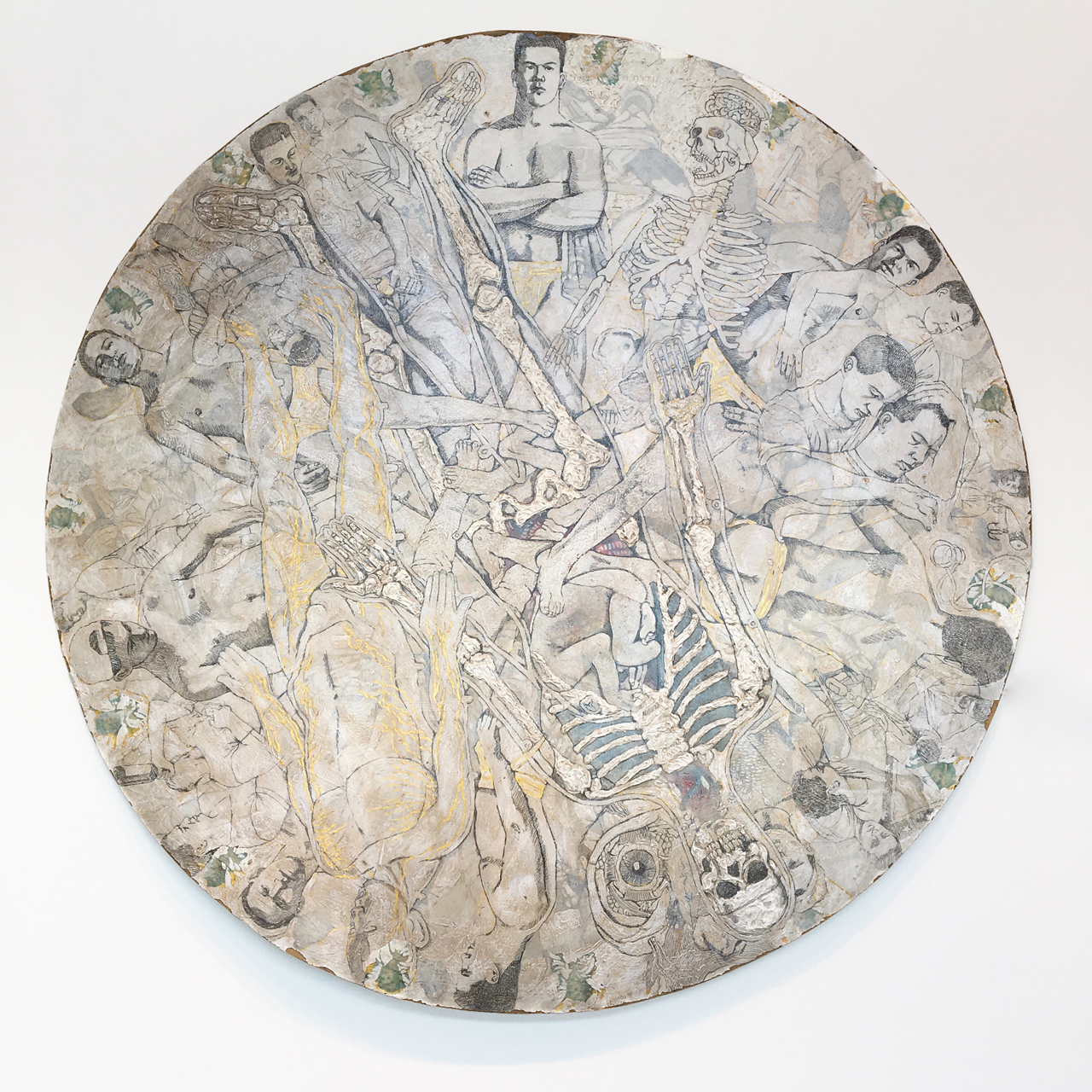 """Michael Meads, """"Wheel of Misfortune"""" (1995) (image courtesy Ogden Museum of Southern Art, New Orleans)"""