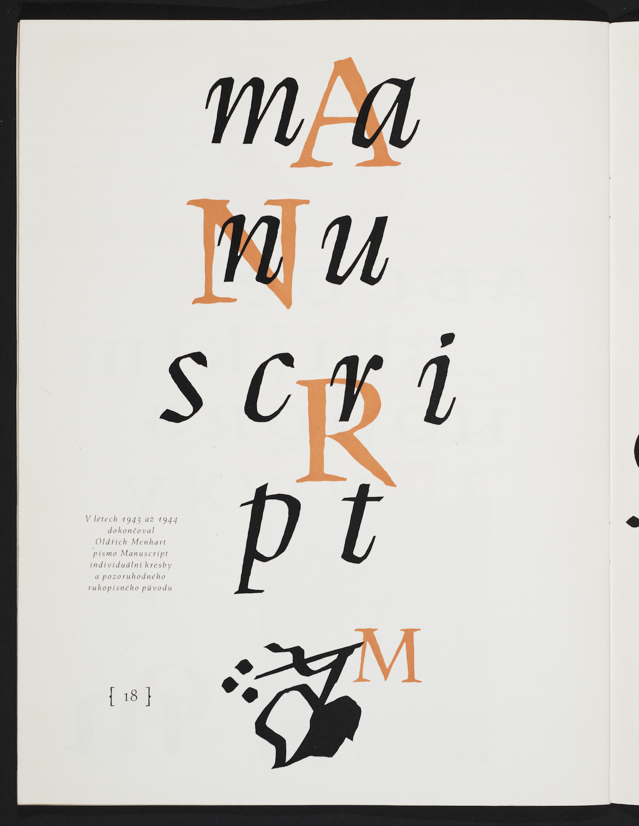 "Oldřich Menhart, illustration for trade journal ""Typografia"" (1962)"