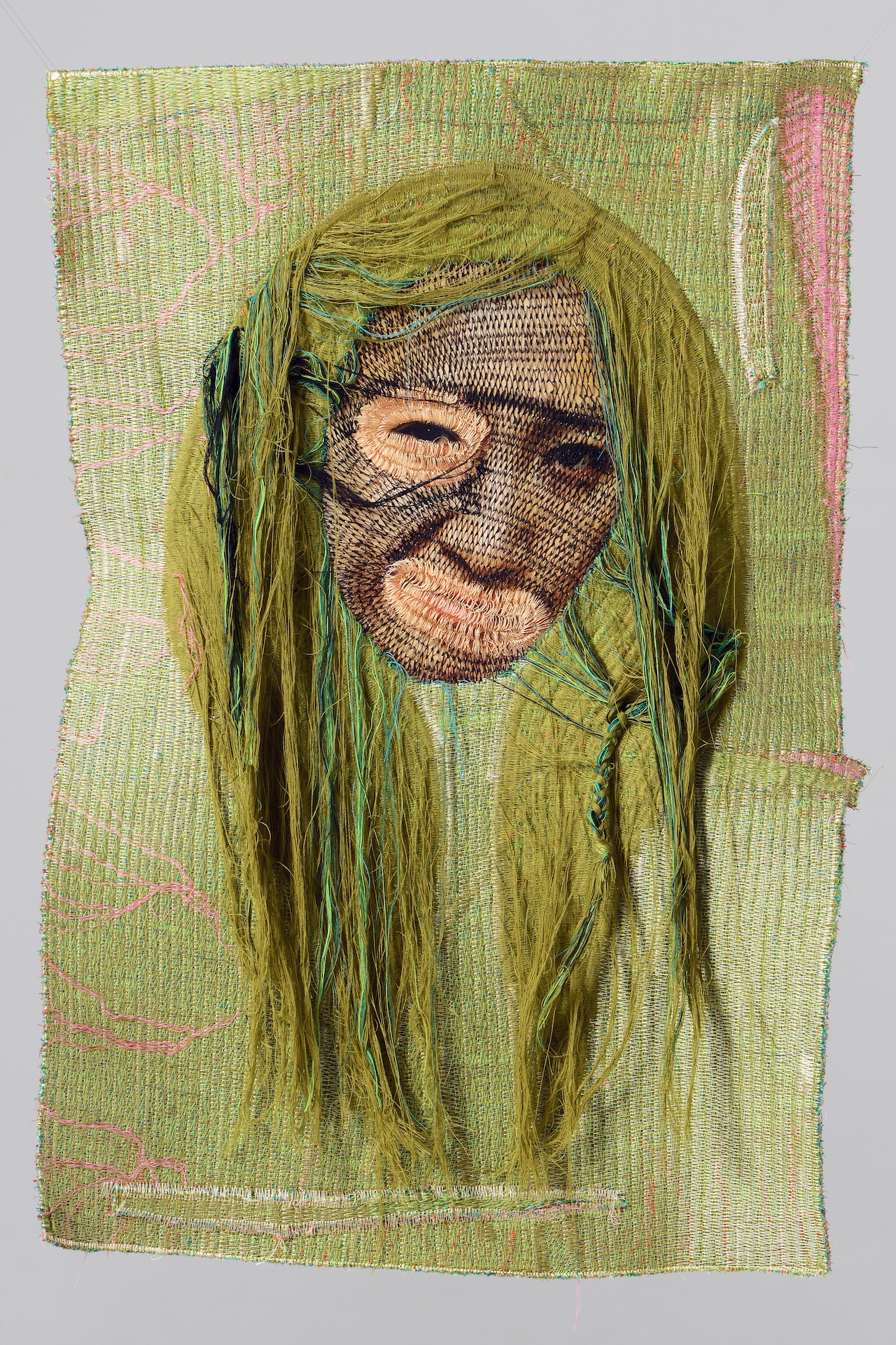 Rag face #15017, 2015 (front), 45x67cm sewing on photo
