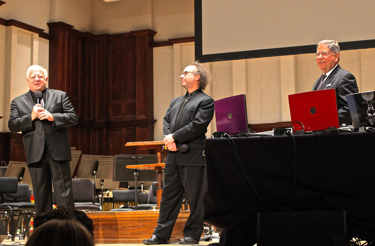 Leonard Slatkin, Tod Machover, and Alberto Ibargüen