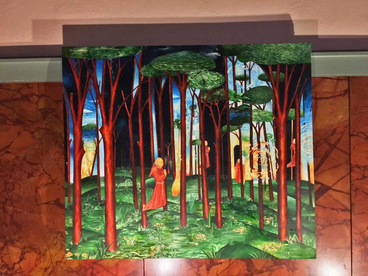 "Jason Saager, ""Flying Multilocator"" (undated), oil on canvas"