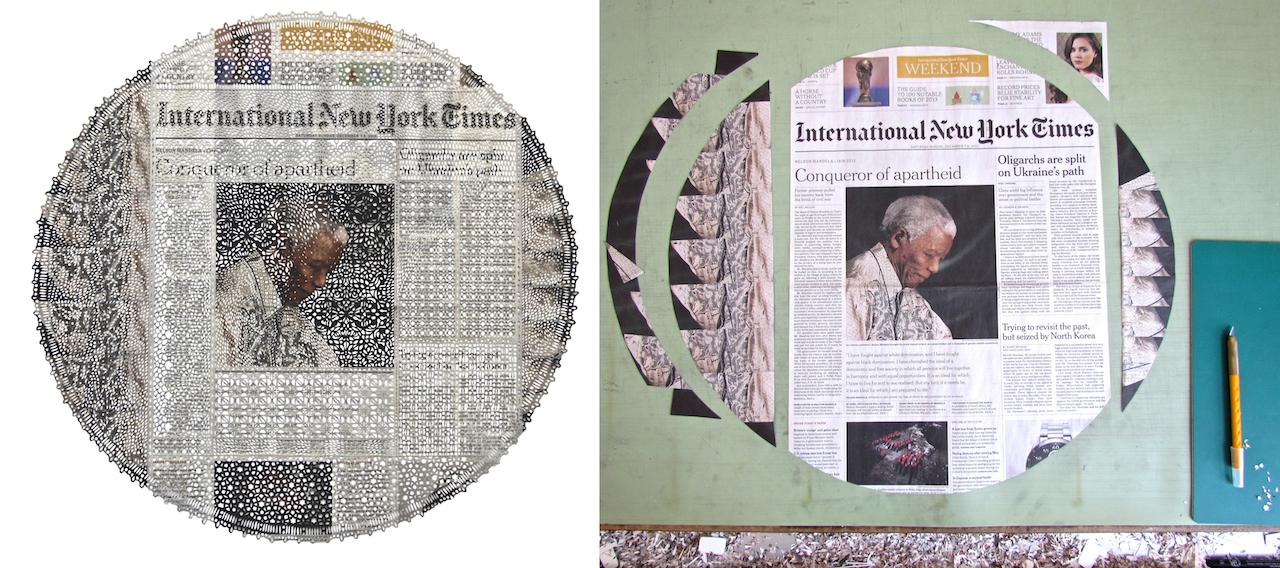 Saturday-Sunday, December 7-8, Nelson Mandela, 2013, 51 x 49 cm