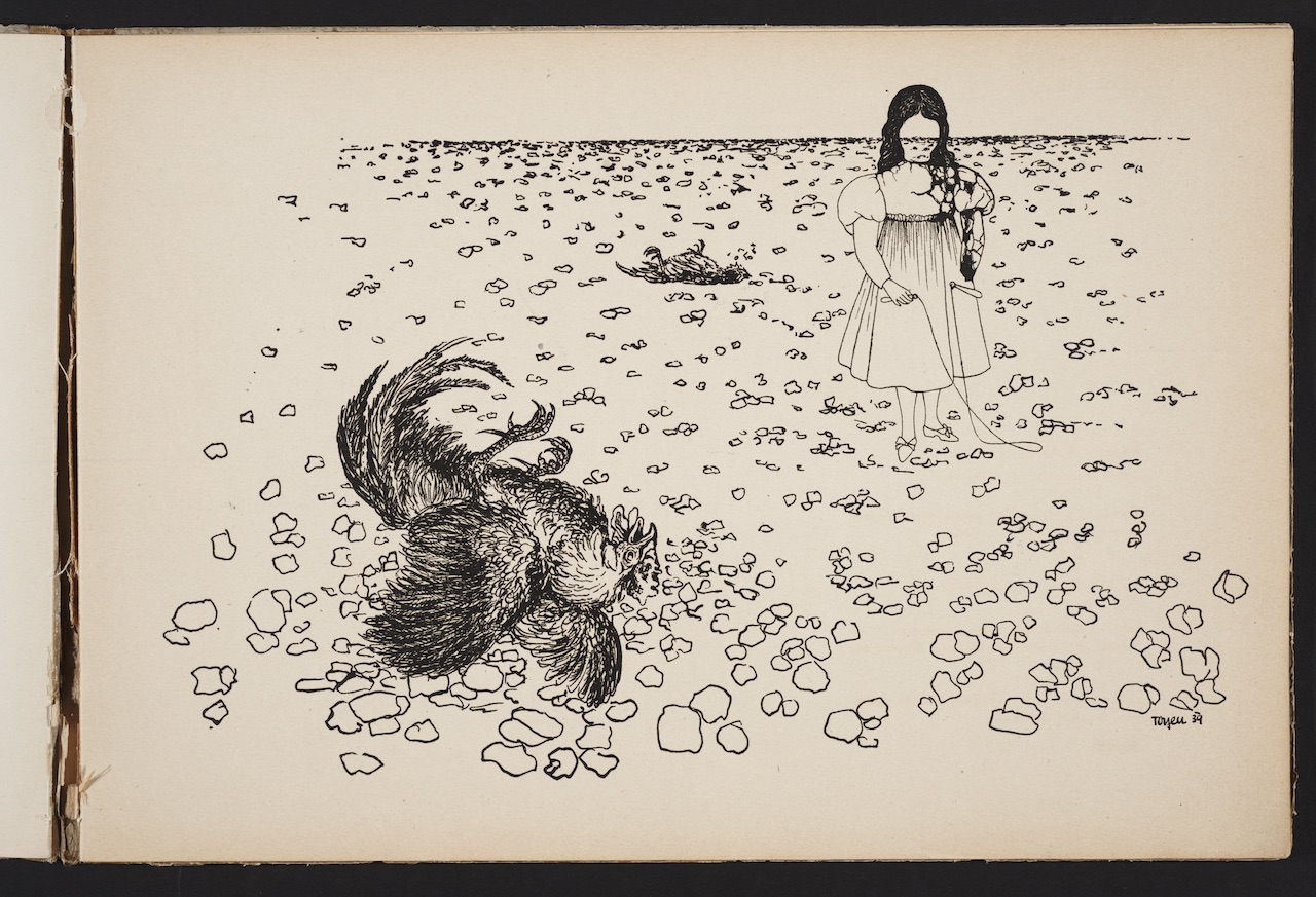 """Toyen, """"Střelnice: cyklus dvanácti kreseb"""" (1939–1940)"""