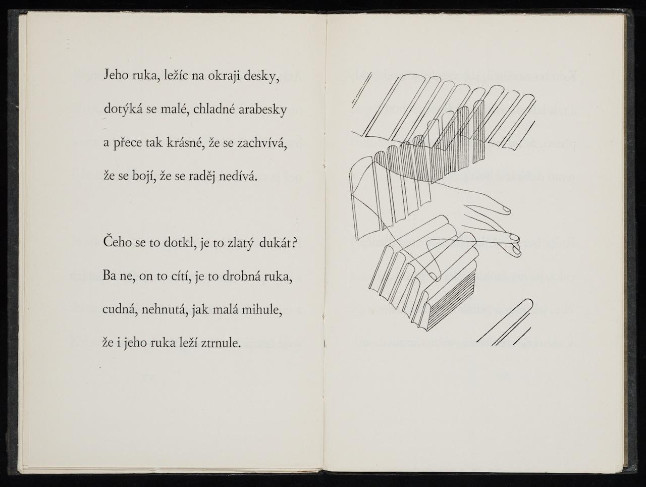 """Toyen, illustration for """"Sylvestrovská noc"""" (1929) by Vítězslav Nezval"""