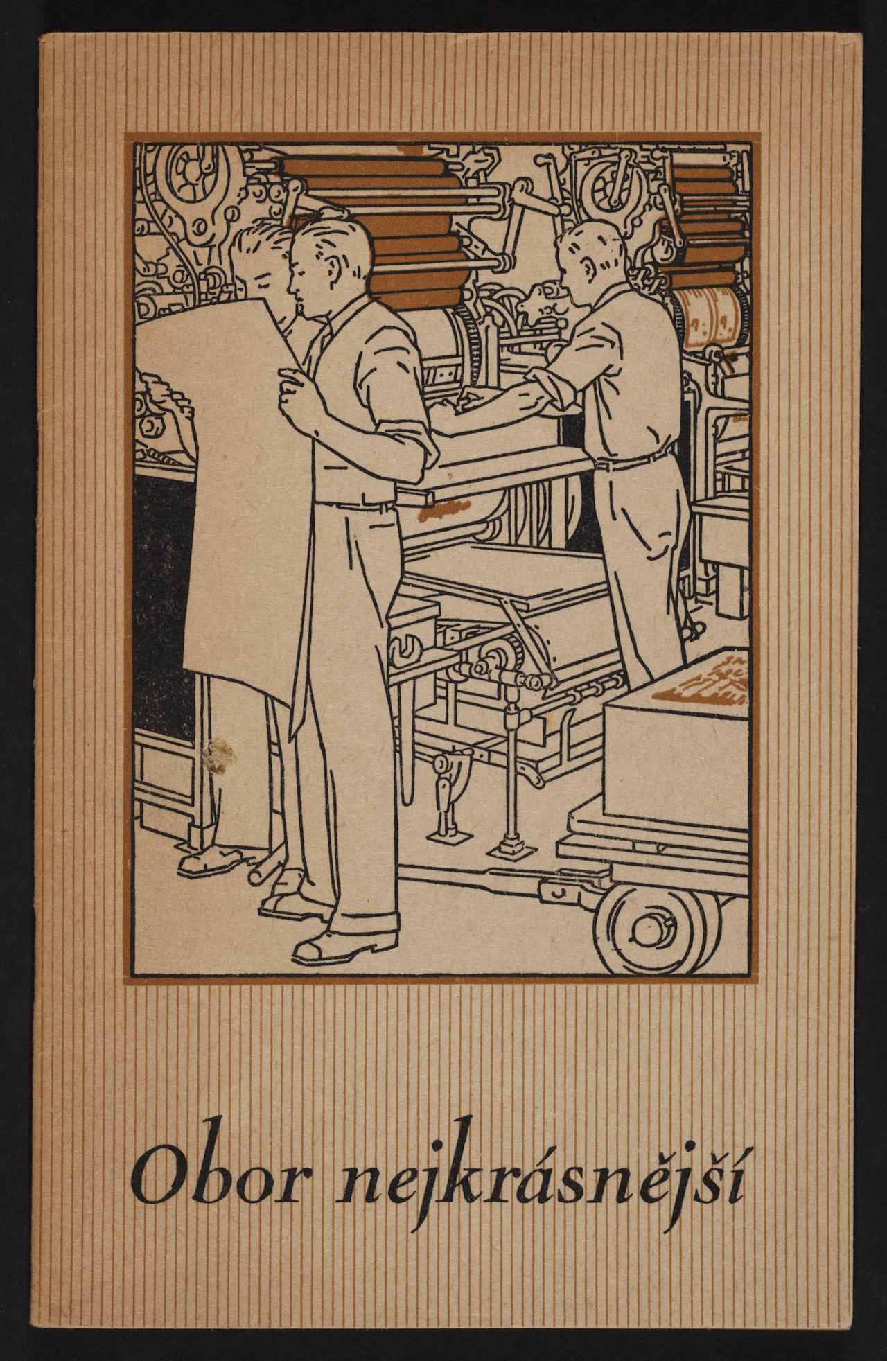 """Vojtěch Preissig, illustration for """"Obor nejkrásnější"""" (1946) by Jindřich Vichnar"""
