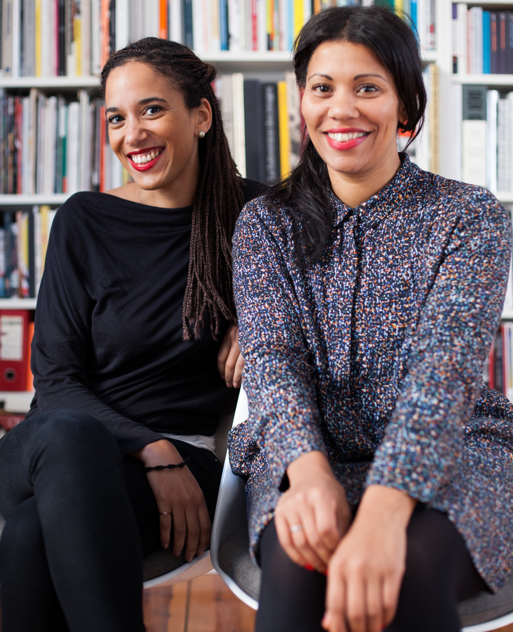 Yvette Mutumba (on left) and Julia Grosse of Contemporary And. Photo by Benjamin Renter, courtesy of the Armory Show.