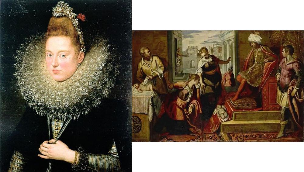 """Peter Paul Reubens's """"Dama delle Licnidi"""" (left) and Jacopo Tintoretto's """"Giudizio di Salomone"""" (right) were both stolen from the Museo di Castelvecchio (images via @unquadroalgiorno and @unquadroalgiorno)"""