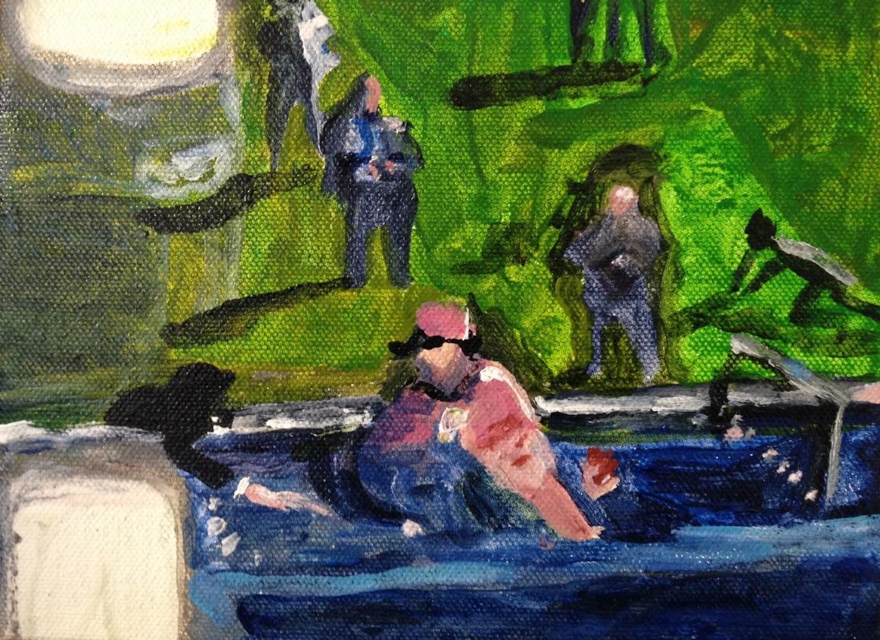 """Karen Finley, """"Zapruder Film Frame #337"""" (2015), Acrylic on Canvas (via facebook)"""
