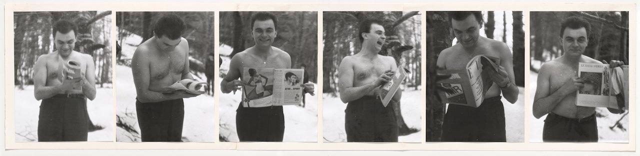 "Tomislav Gotovac, ""Showing Elle"" (1962), six gelatin silver prints"