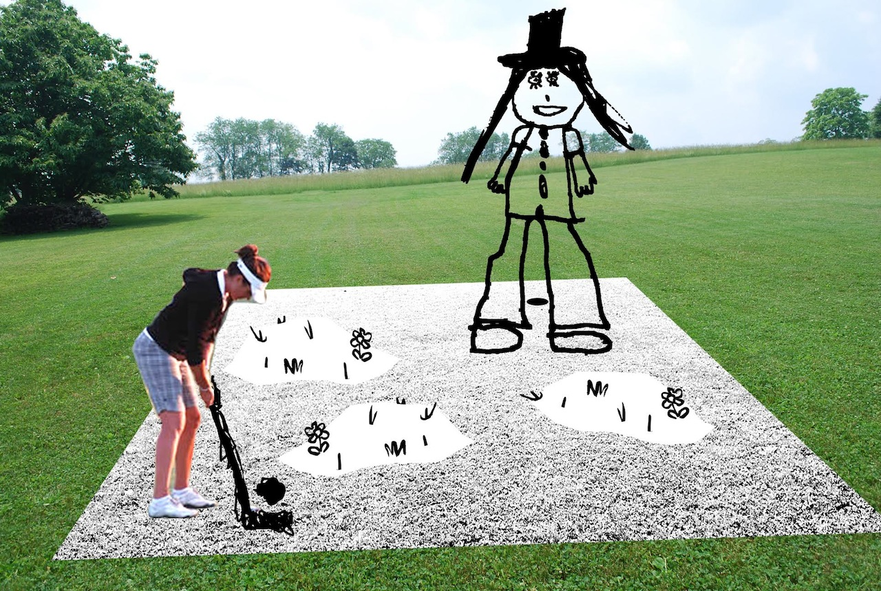 Michelle Carla Handel, rendering of her contribution to the Arroyo Seco Garden Golf Classic