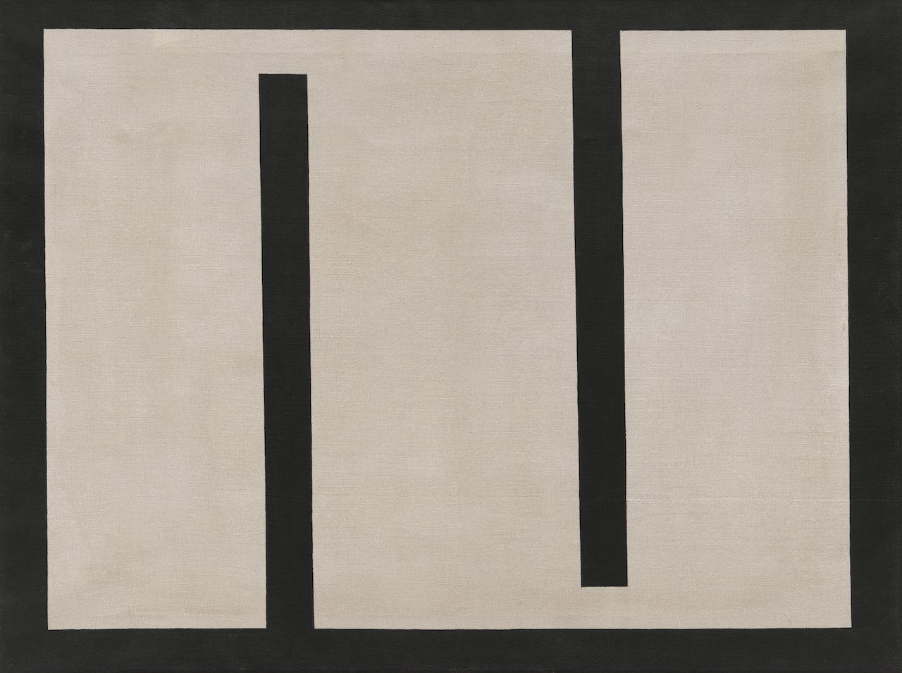 """Julije Knifer, """"Meander No. 5"""" (1960), oil on canvas"""