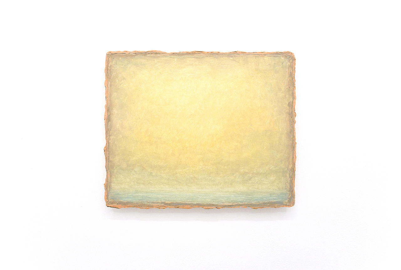 """Lucas Arruda, """"Untitled (Deserto - Modelo)"""" (2015), oil on canvas, 25 x 31 cm (all images courtesy the artist, Lulu, Mexico City and Mendeswood DM, São Paulo)"""