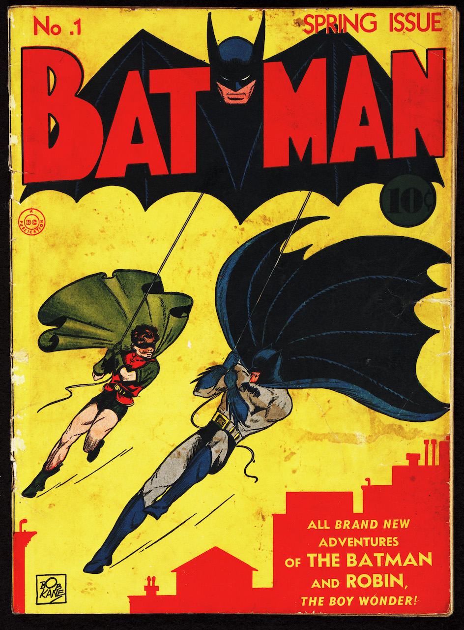 Bob Kane and Bill Finger, 'Batman' (No. 1, Spring 1940). Published by Detective Comics, Inc., New York. (courtesy Serial and Government Publications Division, Library of Congress, Washington D.C.)