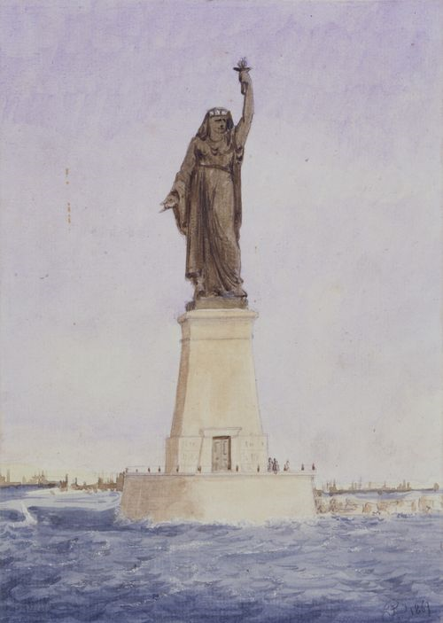 Did you know the creator of the Statue of Liberty, Frédéric Auguste Bartholdi, originally proposed his ideas as a Muslim women standing at the mouth of the Suez Canal in Egypt? The Daily Beast has the full story. (image via VOAnews.com)