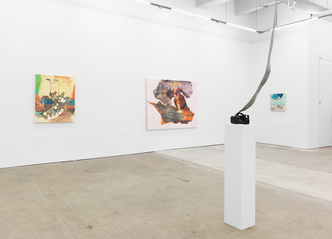 Installation view, Rachel Rossin, 'Lossy' at Zieher Smith & Horton (photo by Matt Grubb, all images courtesy the artist and Zieher Smith & Horton)