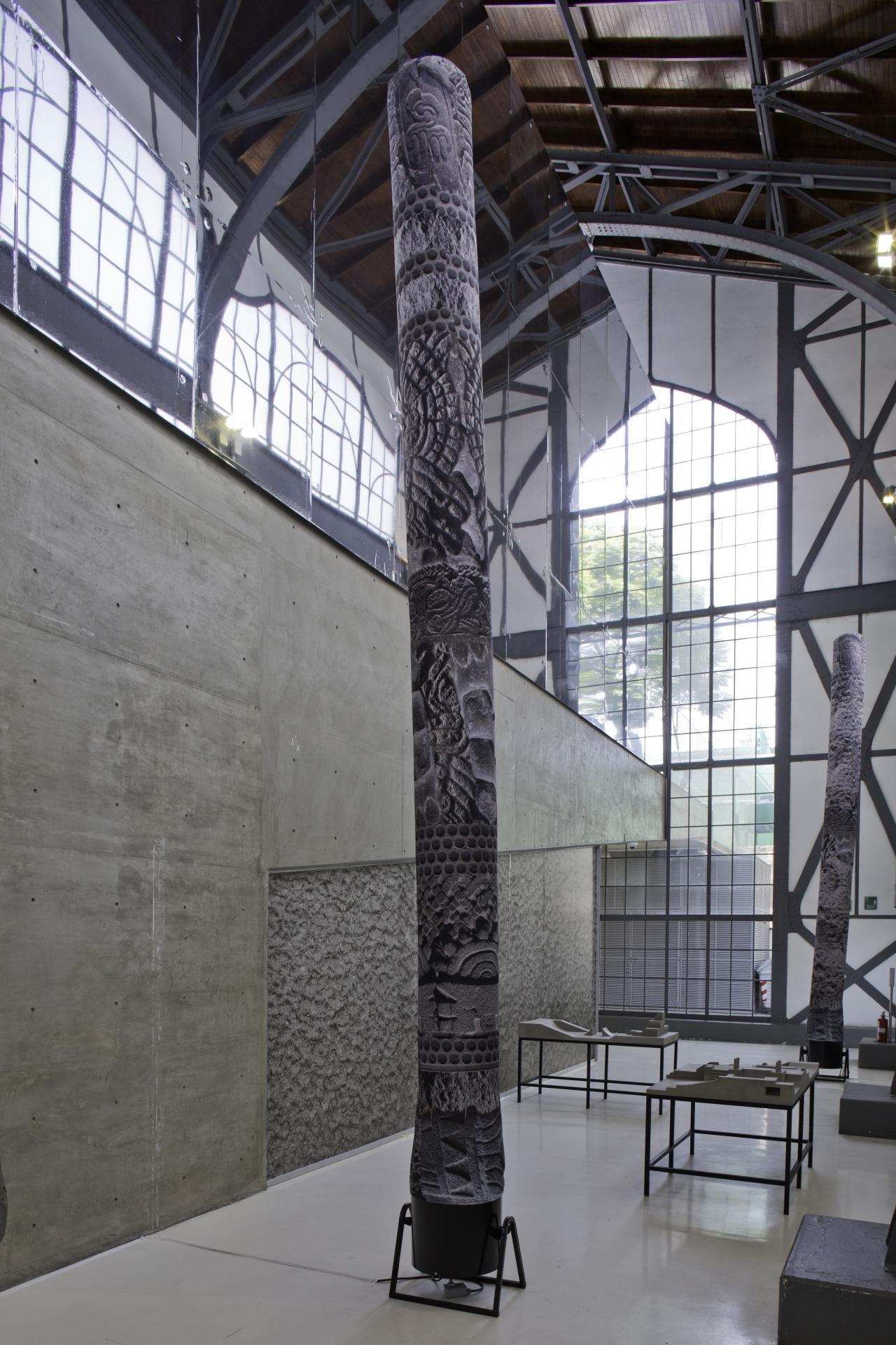Installation view of SANGREE's 'Murmurs of Earth' at the Museo Universitario del Chopo