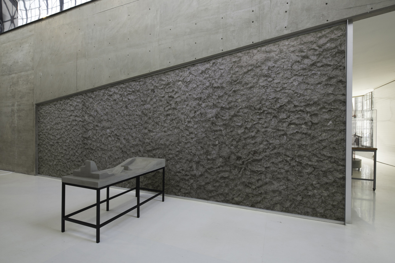 "SANGREE, ""Stone Board (Serpiente)"" (2015), steel, wood, styrofoam, and basecoat"