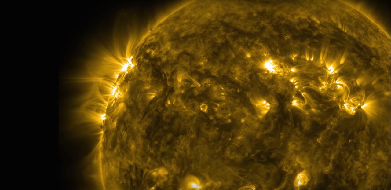 Detail of the sun (Screen grab via Youtube)