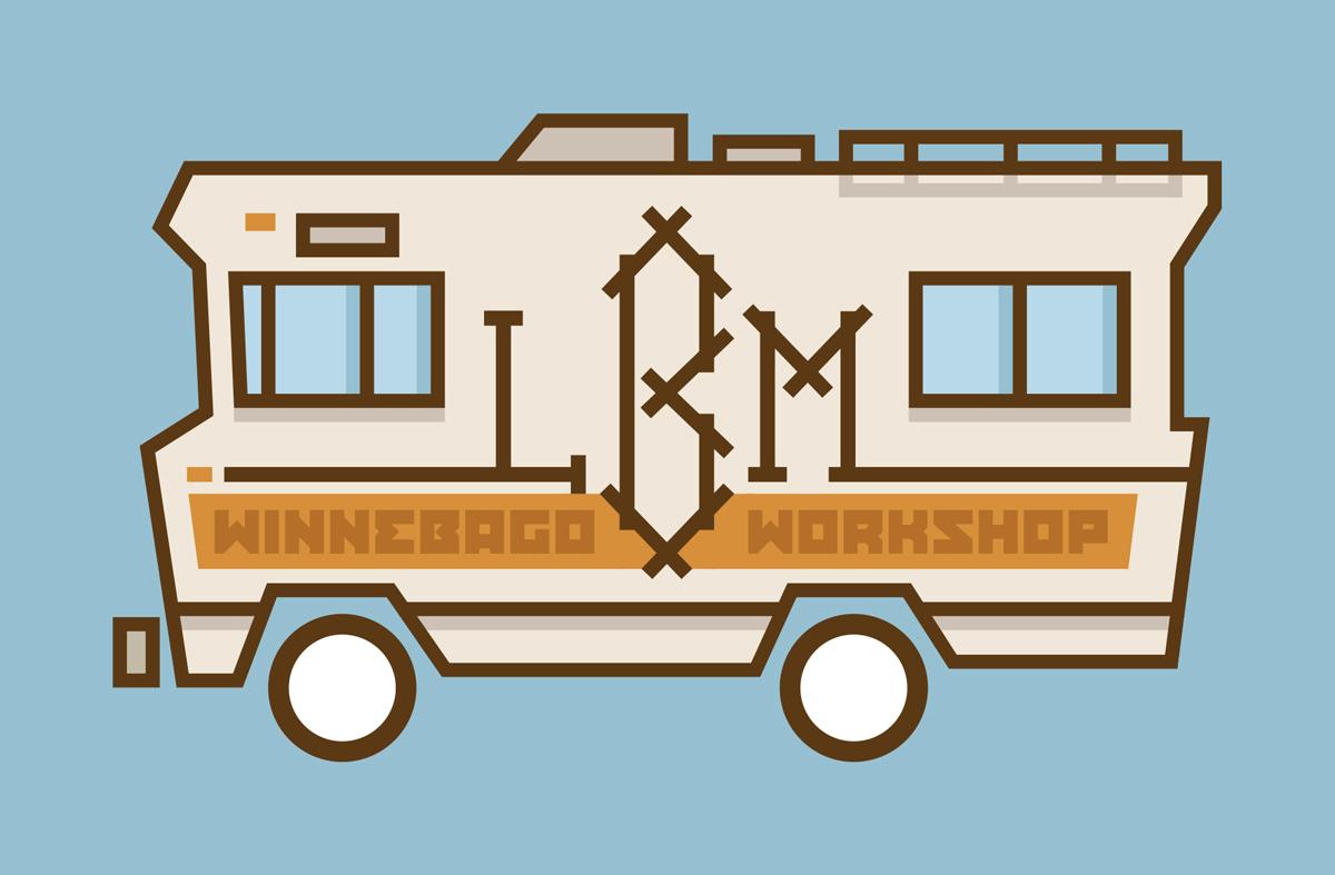 Sticker design for the Winnebago Workshop (all images courtesy Alec Soth)