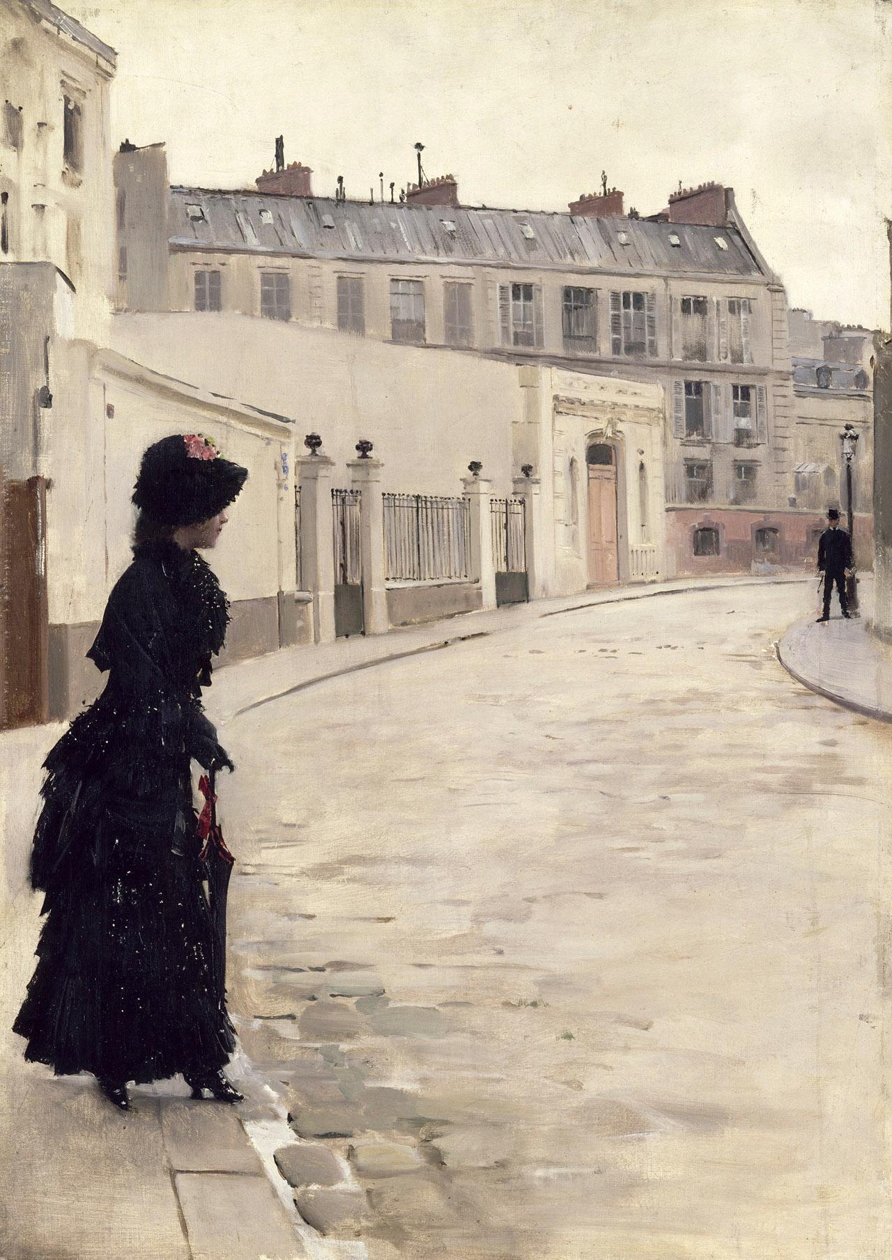 "Jean Béraud, ""L'Attente"" (1880), (photo by Franck Raux, courtesy Musée d'Orsay, © RMN-Grand Palais)"