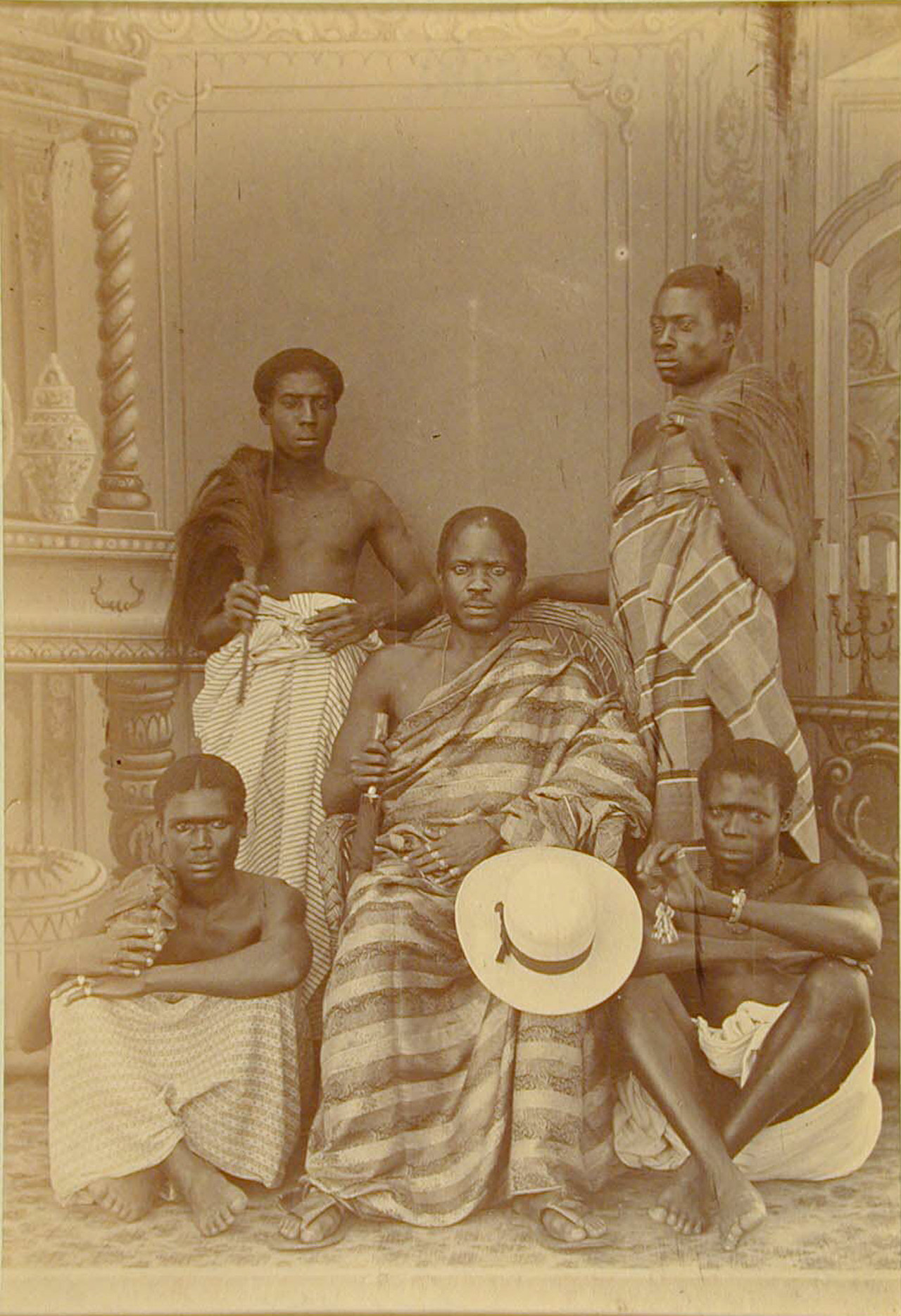 George A. G. and Albert George Lutterodt (Ghanaian, active from 1876) Five Men, ca. 1880-5 Albumen silver print from glass negative 6 x 4 in (15.2 x 1.5 cm) Purchase, Ross Family Fund Gift, 1999 (1999.184.1)