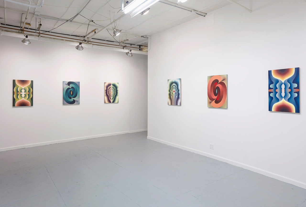 Installation view, 'Loie Hollowell: AHHA' at 106 Green (all images courtesy the artist and 106 Green)