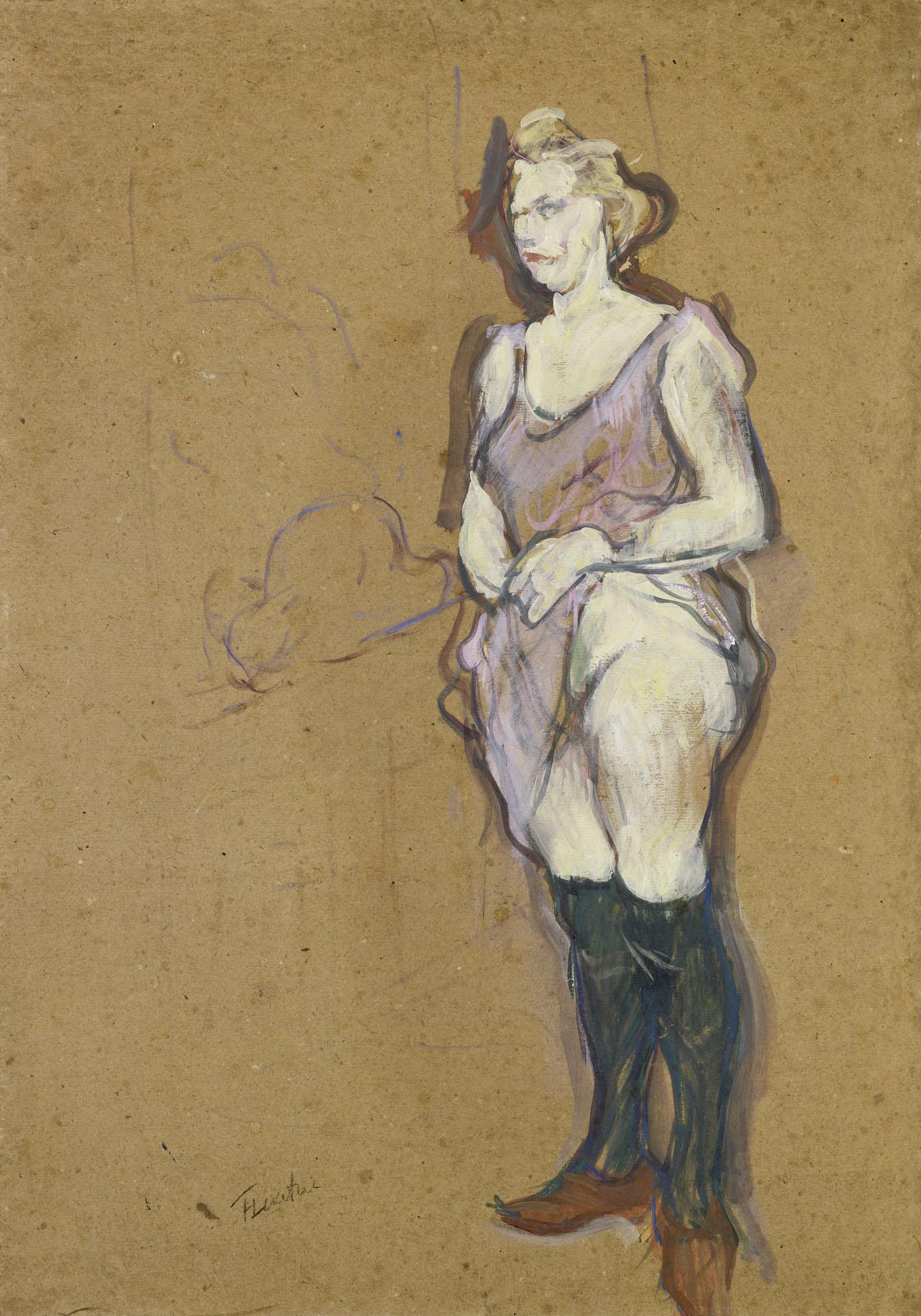 """Henri de Toulouse-Lautrec, """"L'Inspection médicale : femme de maison blonde"""" (1893–94), (photo by Hervé Lewandowski, courtesy Musée d'Orsay, © RMN-Grand Palais)"""