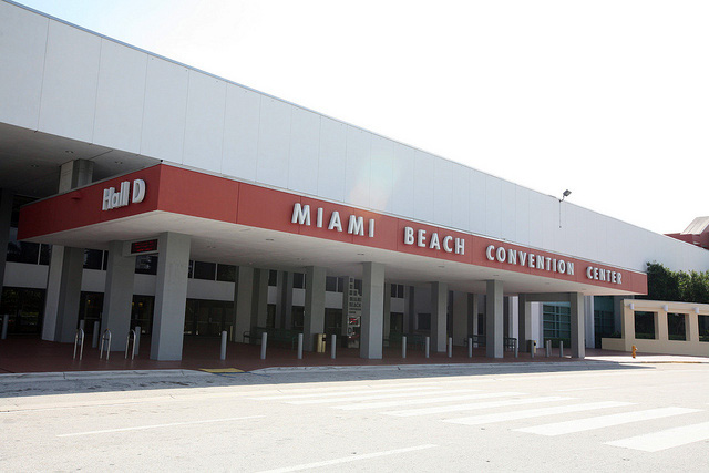 The Miami Beach Convention Center is the site of the biggest art fair during art fair week. (photo flickr.com/Dennis Goedegebuure)
