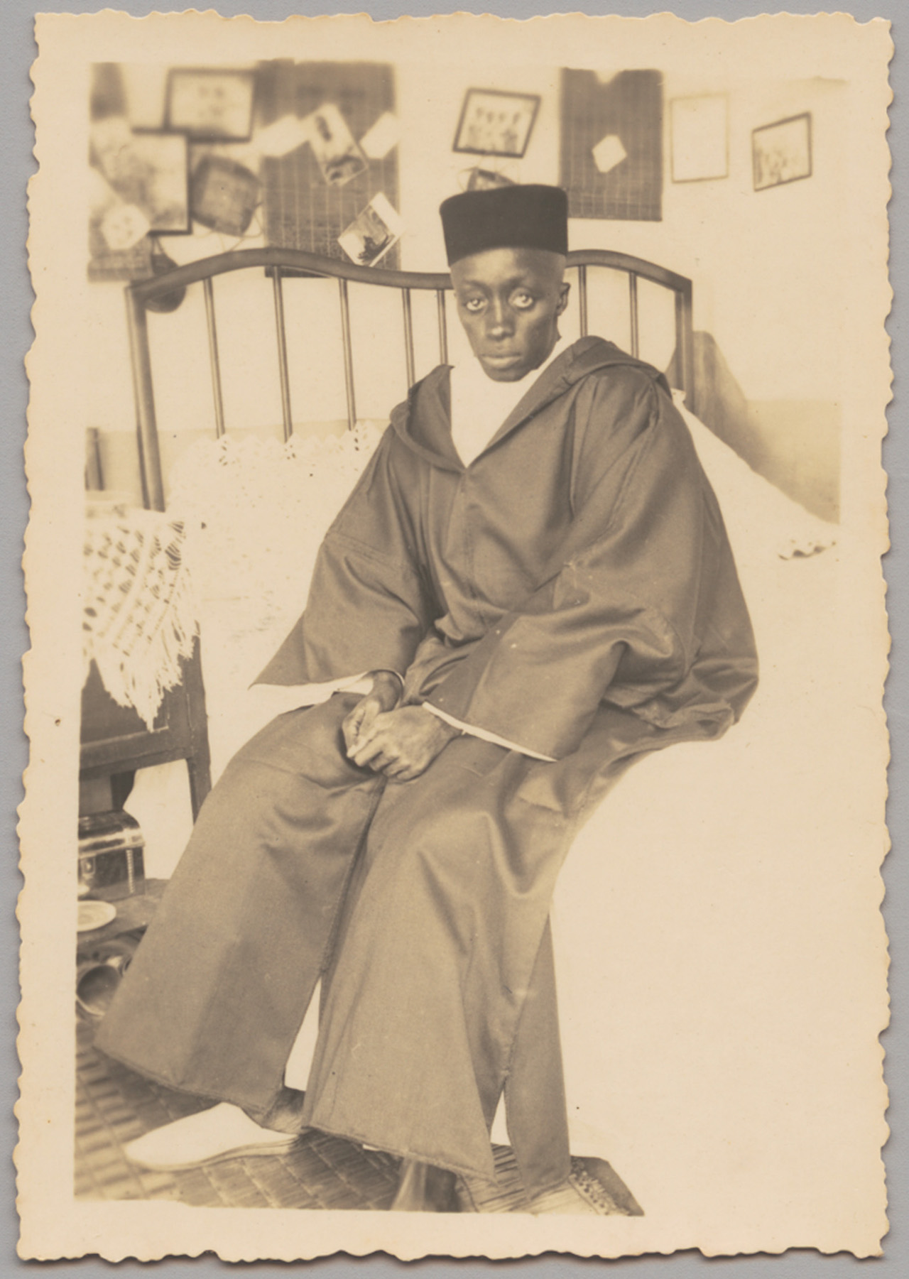 Unknown Artist (Senegal) Seated Man, 1930s-1940s Gelatin silver print 5 x 3 in (13.3 x 8.3 cm) Visual Resource Archive, Department of the Arts of Africa, Oceania, and the Americas