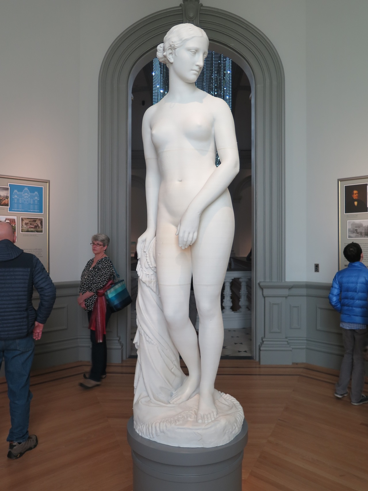 """A 3D-printed replica of """"The Greek Slave"""" (1851) by Hiram Powers"""