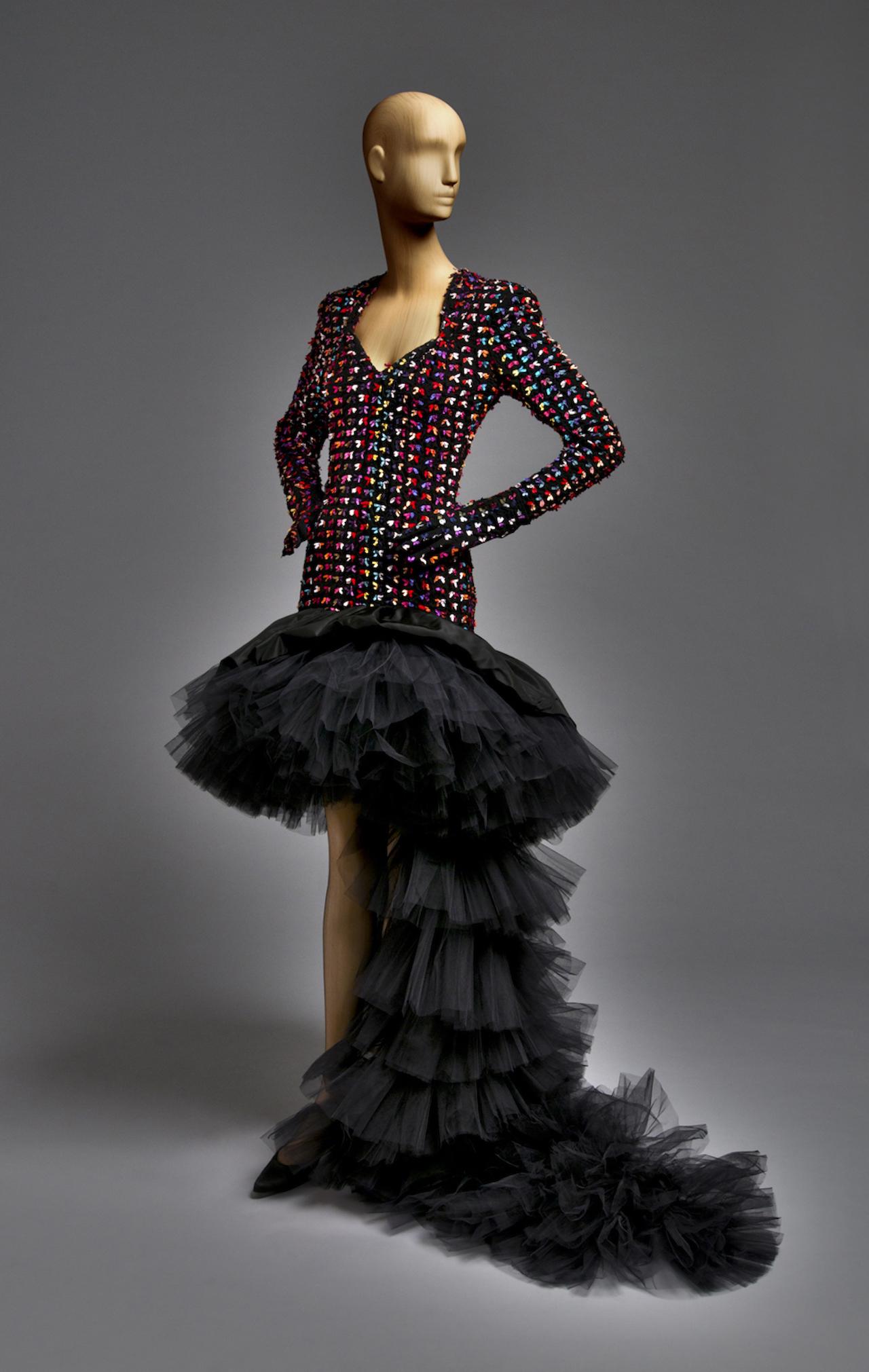 Black Dress with Bow Embellishments Patrick Kelly, 1988 (Courtesy of Philadelphia Museum of Art)