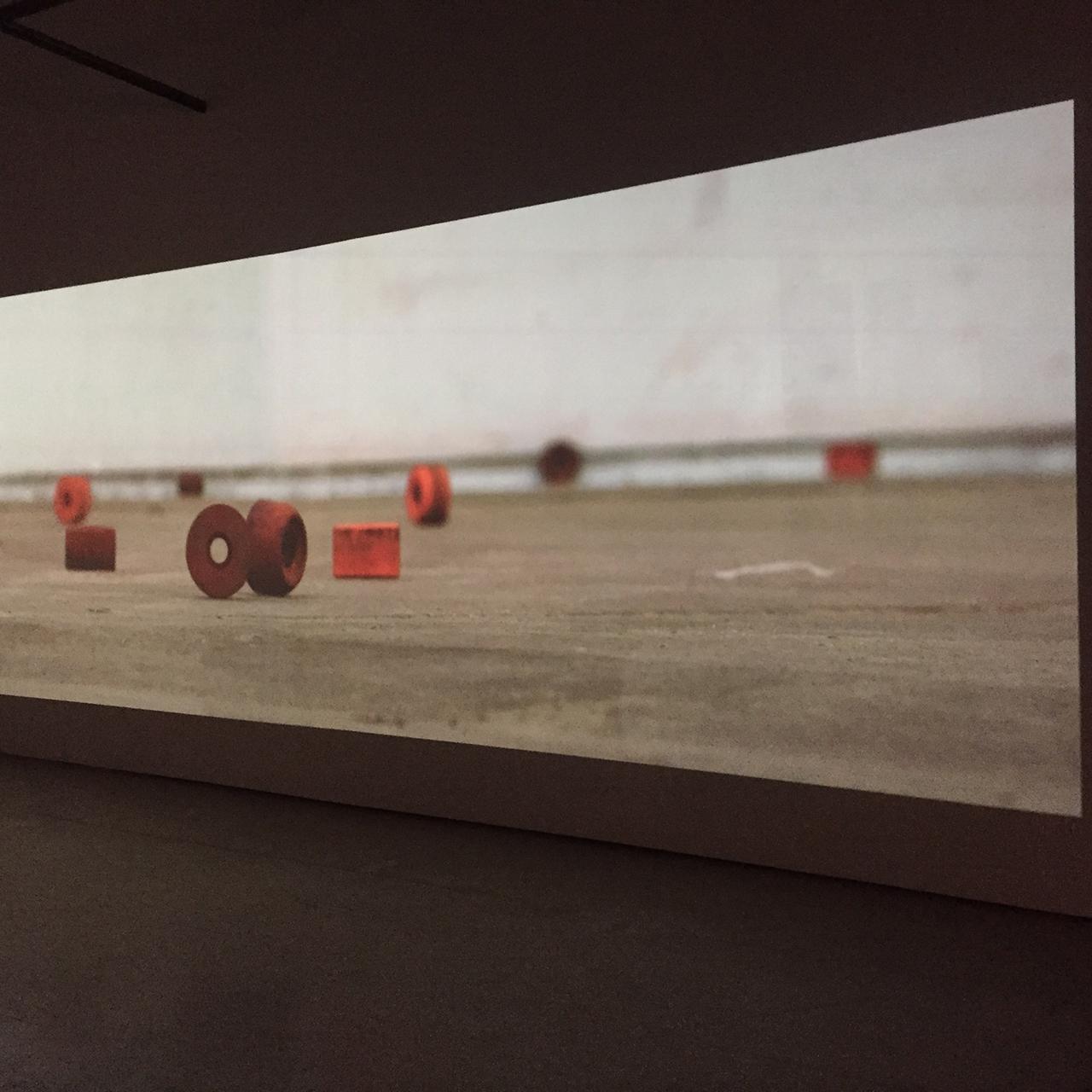 """Mark Bradford, """"Deimos"""" (2015), digital video with audio, 1'21"""", installation view at Hauser & Wirth"""