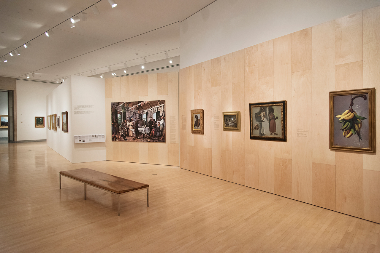 Installation view, 'Impressionism and the Caribbean: Francisco Oller and His Transatlantic World' at the Brooklyn Museum (photo © Jonathan Dorado) (click to enlarge)