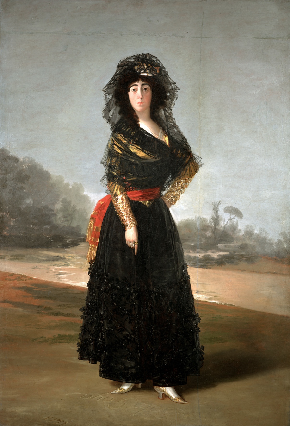 "Francisco de Goya, ""The Duchess of Alba"" (1797) (© and courtesy The Hispanic Society of America, New York) (click to enlarge)"