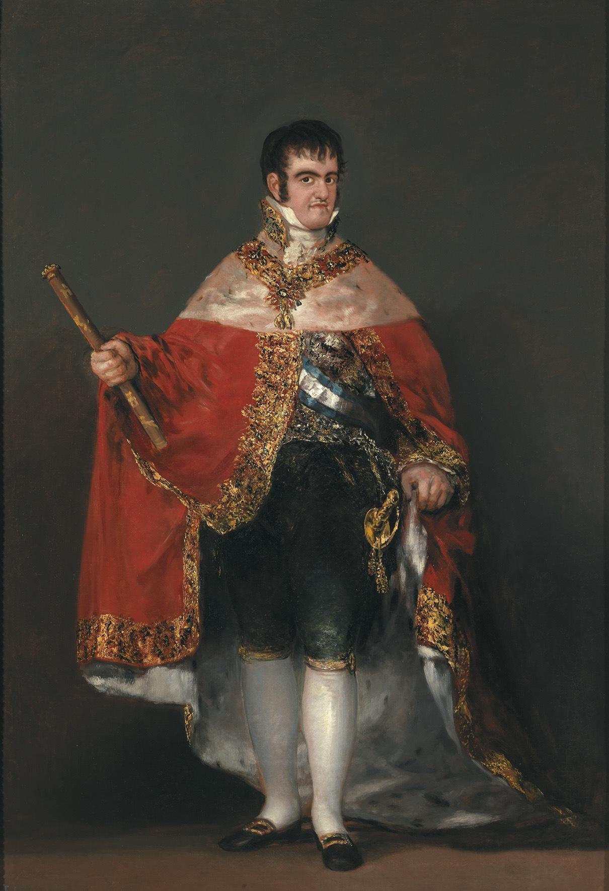 """Francisco de Goya, """"Ferdinand VII in Court Dress"""" (1814–15) (© Museo Nacional del Prado, Madrid)"""