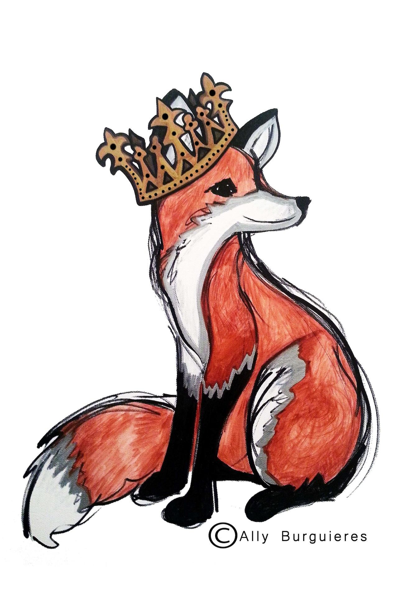 Fox Princess With Copyright