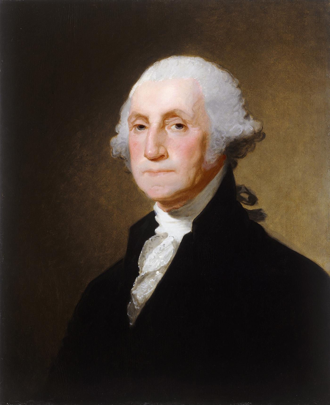 "Gilbert Stuart, ""George Washington,"" (c. 1821) (Image via Wikimedia)"