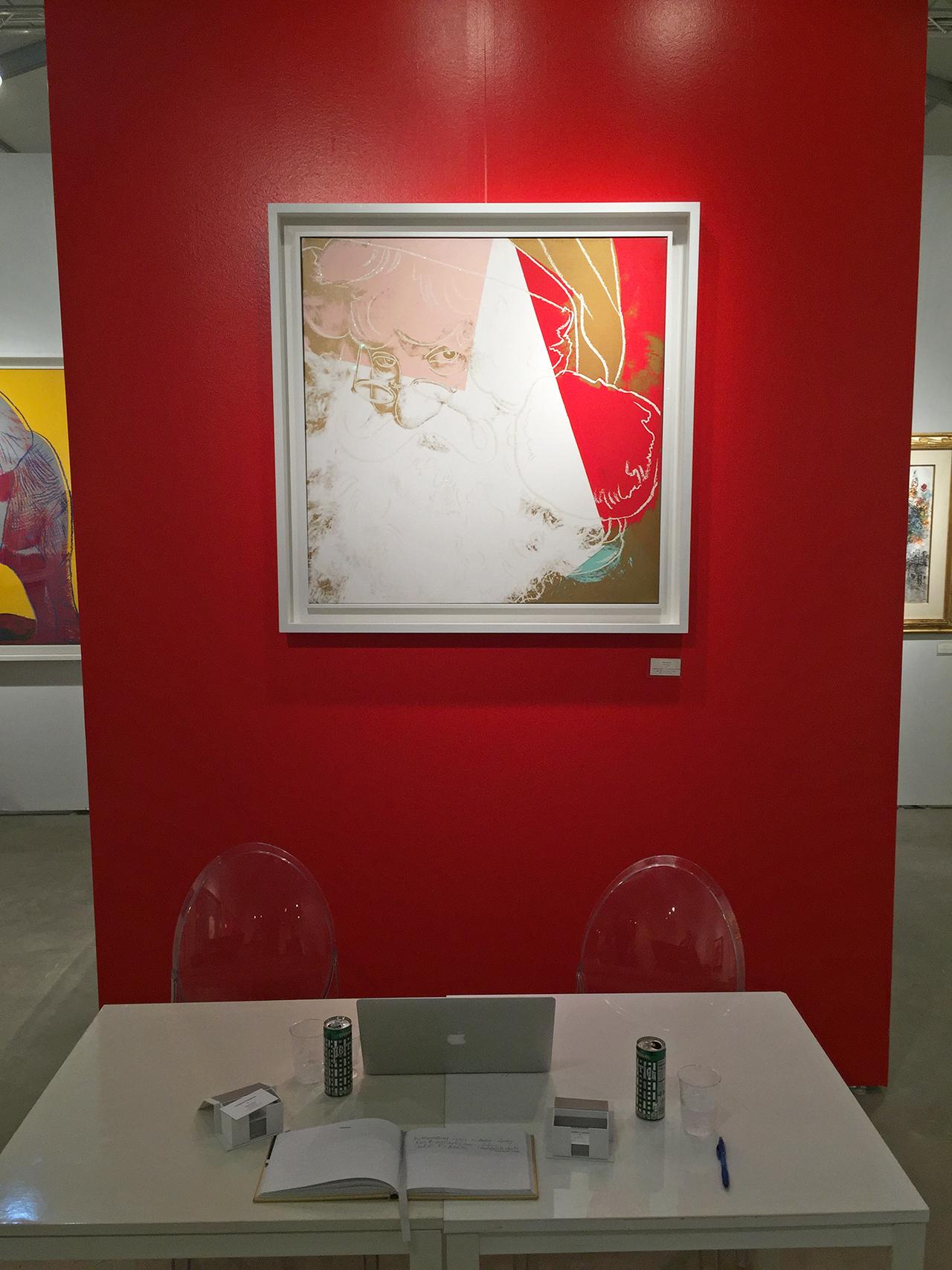 Warhol's Santa at Queue Projects (click to enlarge)
