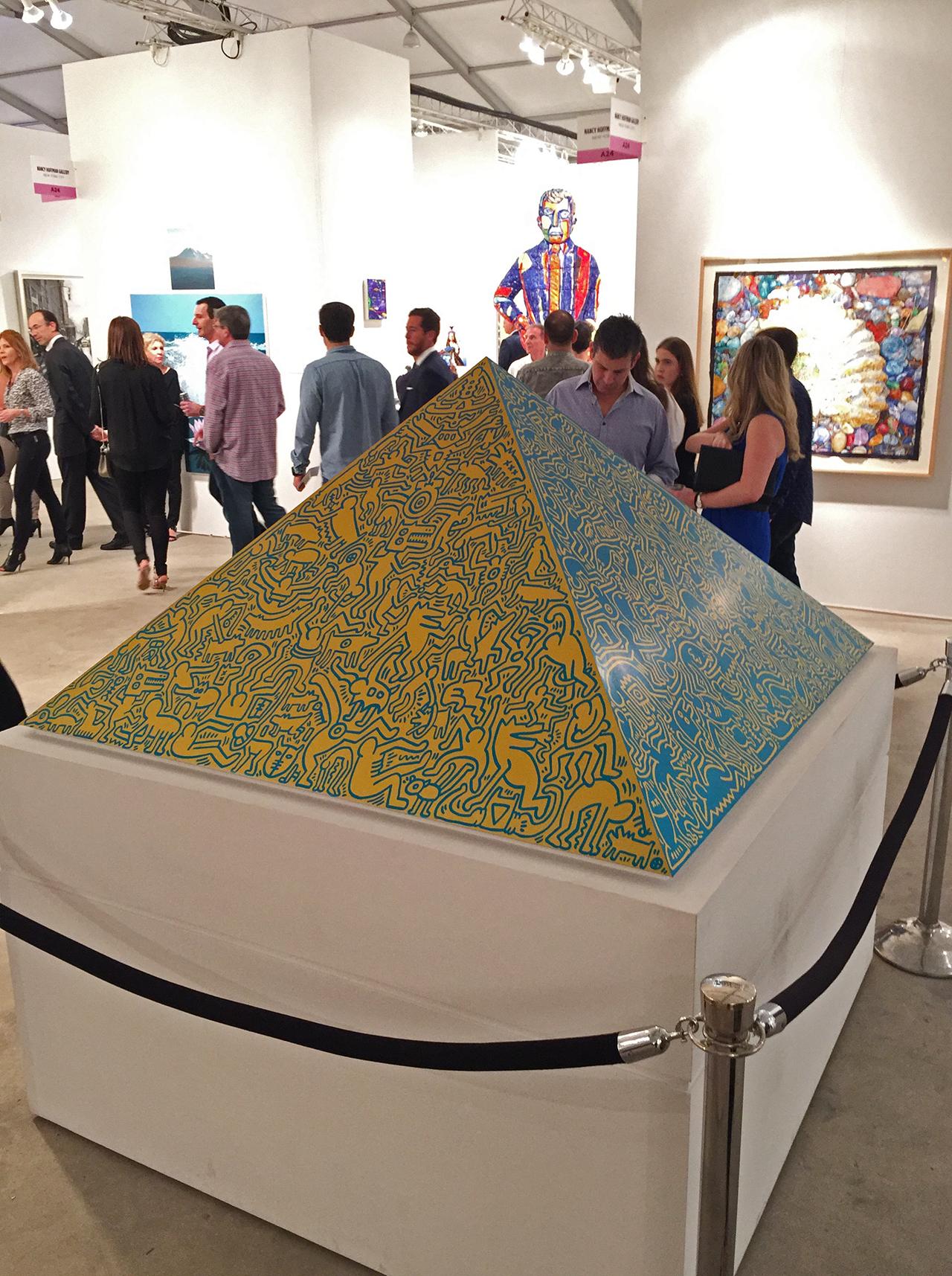 """Keith Haring, """"Pyramid"""" at Queue Projects"""