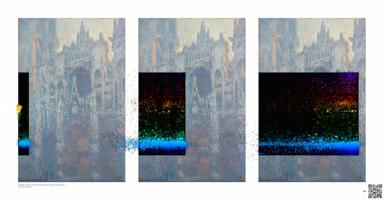 Ichograph-Triptych-Monet-Yiannis Kranidiotis