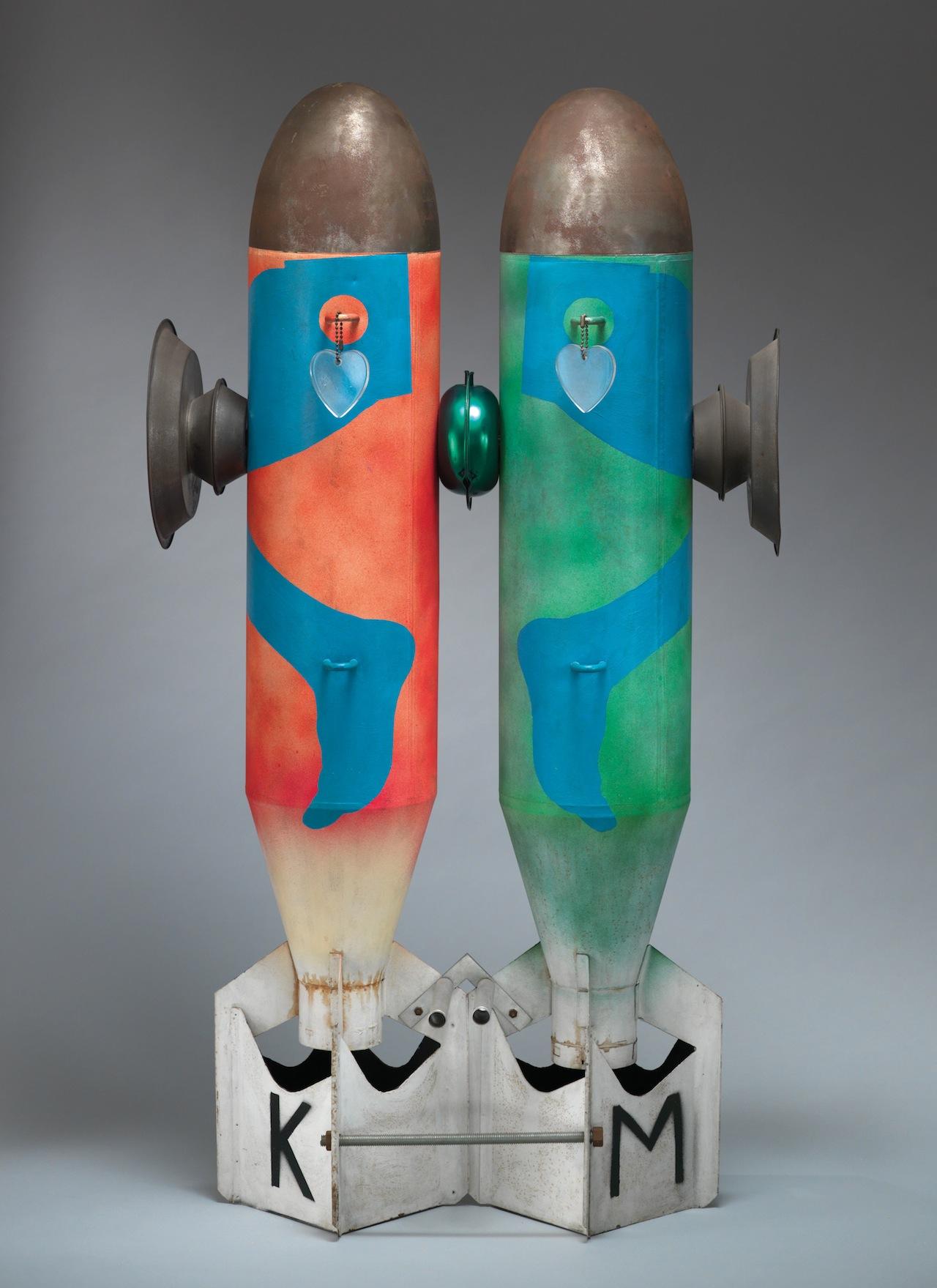 """Kiki Kogelnik, """"Bombs in Love"""" (1962) (click to enlarge)"""